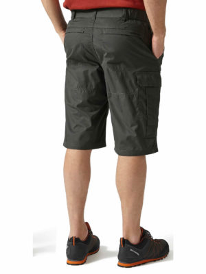 CMJ228 Craghoppers NosiDefence Kiwi Shorts - Black Pepper - Back