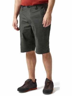 CMJ228 Craghoppers NosiDefence Kiwi Shorts - Black Pepper - Front