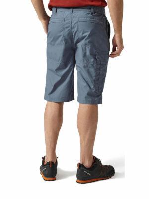 CMJ228 Craghoppers NosiDefence Kiwi Shorts - Ocean Blue - Back