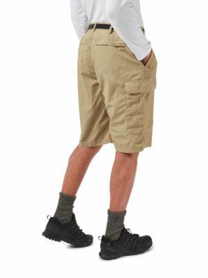 CMJ228 Craghoppers NosiDefence Kiwi Shorts - Raffia - Back