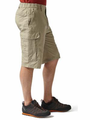 CMJ228 Craghoppers NosiDefence Kiwi Shorts - Rubble - Front