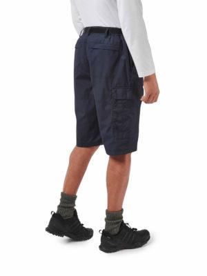 CMJ228 Craghoppers NosiDefence Kiwi Shorts - Steel Blue - Back