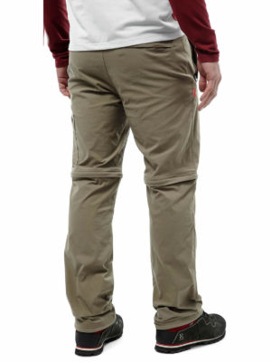CMJ400 Craghoppers NosiLife Pro Stretch Convertible Trousers - Pebble - Back