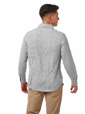 CMS641 Craghoppers NosiLife Lester Shirt - Cloud Grey - Back