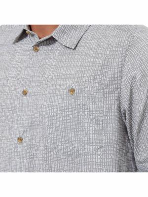 CMS641 Craghoppers NosiLife Lester Shirt - Cloud Grey Print