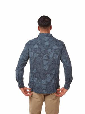 CMS641 Craghoppers NosiLife Lester Shirt - Steel Blue - Back