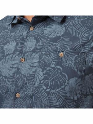 CMS641 Craghoppers NosiLife Lester Shirt - Steel Blue Print