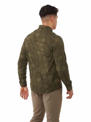 CMS641 Craghoppers NosiLife Lester Shirt - Woodland Green - Back