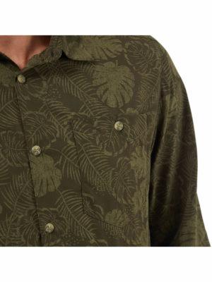 CMS641 Craghoppers NosiLife Lester Shirt - Woodland Green Print