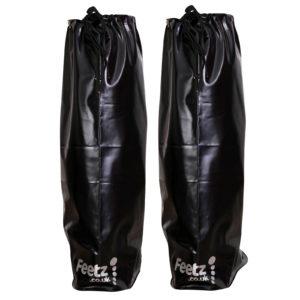Feetz Pocket Wellies - Black - Back