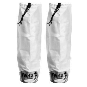 Feetz Pocket Wellies - White - Back