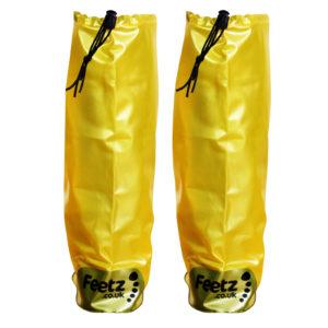 Feetz Pocket Wellies - Yellow - Back