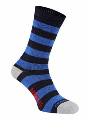 Craghoppers NosiLife Mens Travel Twin Pack Socks - Dark Navy/Navy Stripe