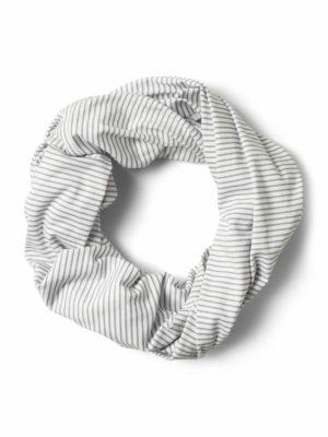 CUC325 Craghoppers NosiLife Infinity Scarf Soft Grey Marl Stripe