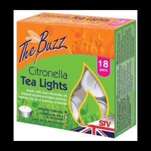 The Buzz Citronella Tea Lights