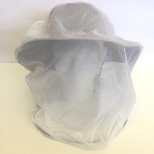 Purple Turtle Head Net - Over a Hat - White