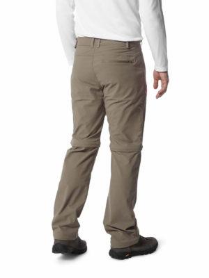 CMJ491 Craghoppers NosiLife Pro Convertible Trousers - Pebble - Back