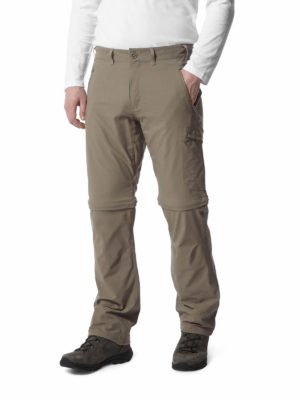 CMJ491 Craghoppers NosiLife Pro Convertible Trousers - Pebble - Front