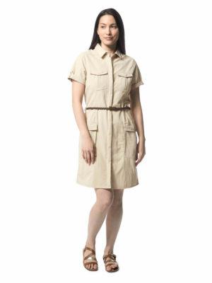 CWD010 Craghoppers NosiLife Savannah Dress - Desert Sand - Front