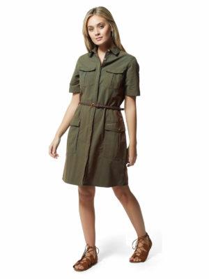 CWD010 Craghoppers NosiLife Savannah Dress - Mid Khaki - Front