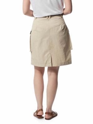 CWD013 Craghoppers NosiLife Savannah Skirt - Desert Sand - Back