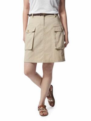 CWD013 Craghoppers NosiLife Savannah Skirt - Desert Sand - Front