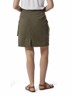 CWD013 Craghoppers NosiLife Savannah Skirt - Mid Khaki - Back