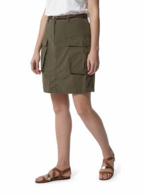 CWD013 Craghoppers NosiLife Savannah Skirt - Mid Khaki - Front
