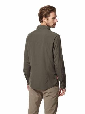 CMS598 Craghoppers Mens Nuoro Shirt - Dark Khaki - Back