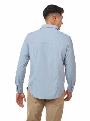 CMS598 Craghoppers Mens Nuoro Shirt - Fogle Blue - Back