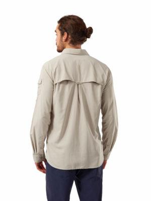 CMS605 Craghoppers NosiLife Mens Adventure Shirt - Desert Sand - Back