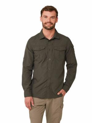 CMS603 Craghoppers Mens Pro Stretch Shirt - Dark Khaki