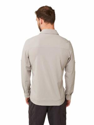 CMS603 Craghoppers Mens Pro Stretch Shirt - Parchment - Back