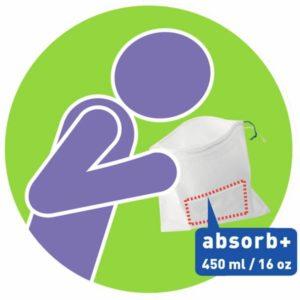 CareBag Vomit Bag with Absorbent Pad