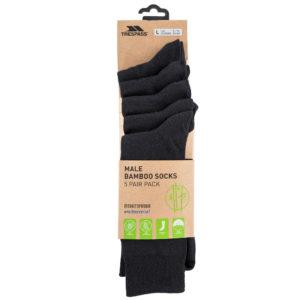 Trespass Bamboo Socks - 5 Pairs