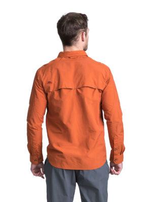 Trespass Moskitophobia Mens Darnet Shirt - Burnt Orange - Back