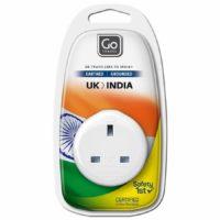 Design Go Travel UK-India Adaptor (532)