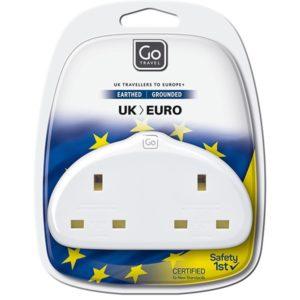 Design Go Travel Duo USB Adaptor - UK to Europe (629)