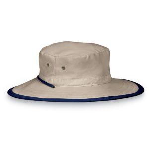 Wallaroo Mens Explorer Hat - Camel/Navy