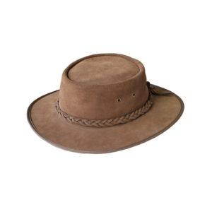 Rufiji Unisex Leather Explorer Hat - Driftwood