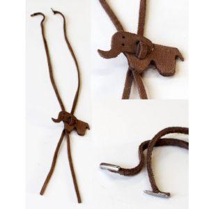 Detachable leather cord