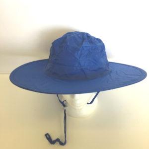Pop Up Rain Hat Blue