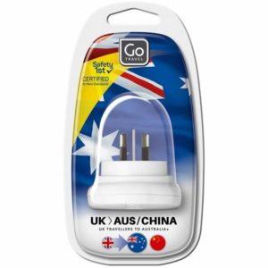 Design Go Travel UK-Australia/China Adaptor (528)