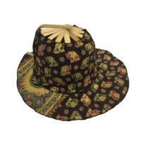 Chocolate Elephant Folding Fan Hat