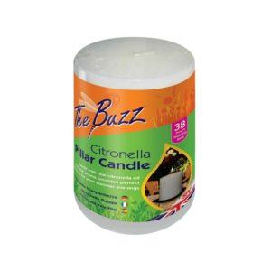 The Buzz Citronella Pillar Candle