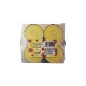 Citronella Maxi Tealight Candles (4 Pack)