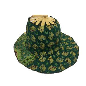 Emerald Elephant Folding Fan Hat