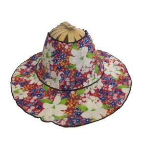 Lily Red Folding Fan Hat