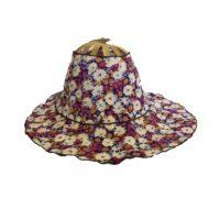 Purple Bouquet Folding Fan Hat