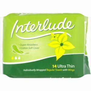 Interlude Ultra Thin Regular Sanitary Towels